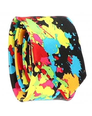 Cravate Eclaboussure Multicolore