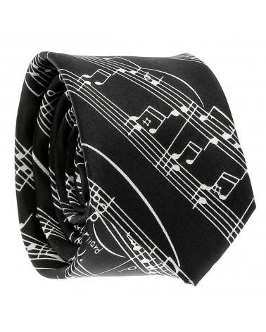 Cravate Partition Noire