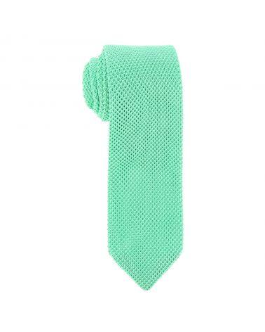Cravate Tricot Pointue Vert menthe
