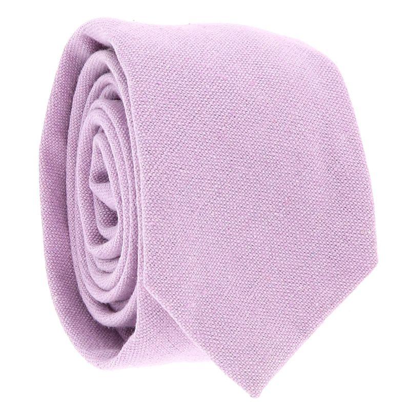 Cravate Coton Parme