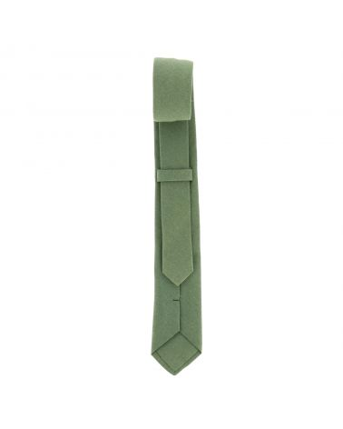 Cravate Coton Verte