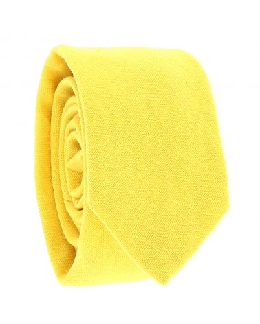 Cravate Coton Jaune