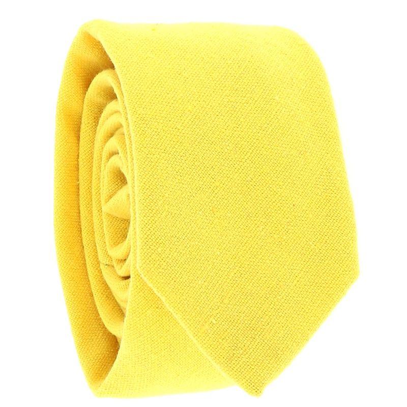 Cravate Coton Jaune