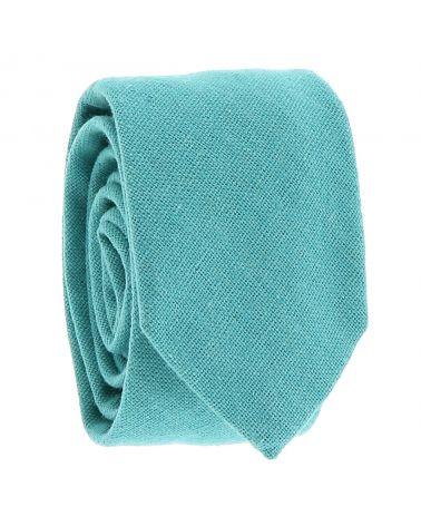 Cravate Coton Bleu turquoise