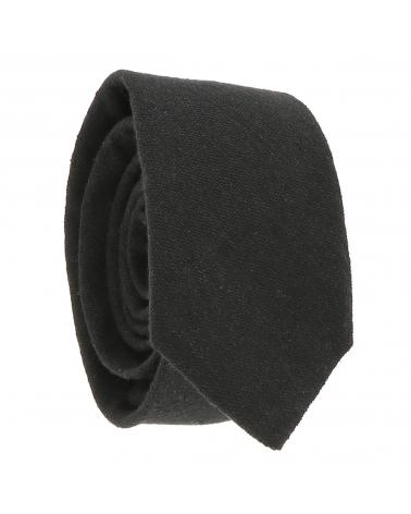 Cravate Coton Noire