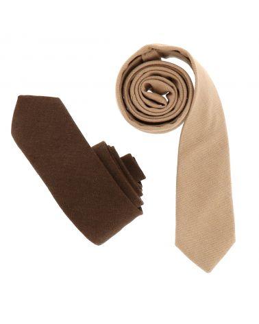 Cravate Coton Marron