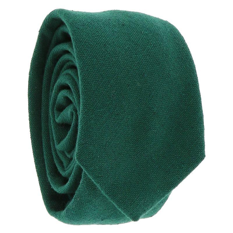 Cravate Coton Vert foncé