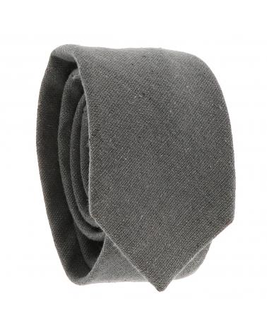 Cravate Coton Grise