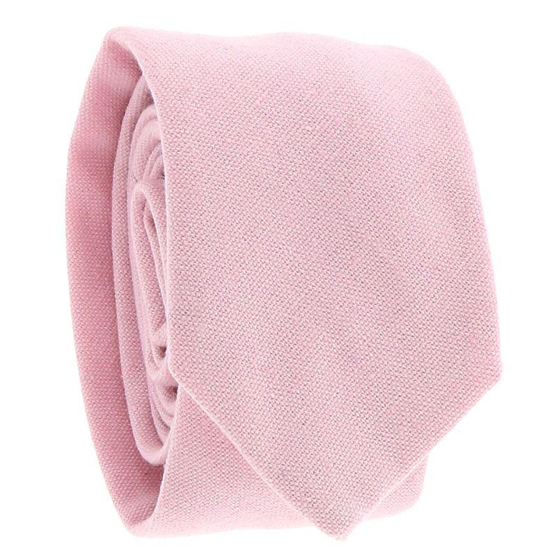 Cravate Coton Rose