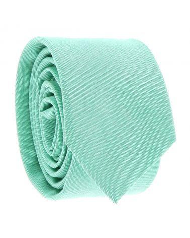 Cravate Coton Vert d'eau