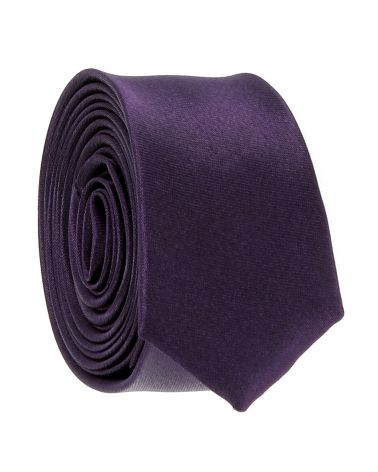 Cravate Extra Slim Violet 3cm