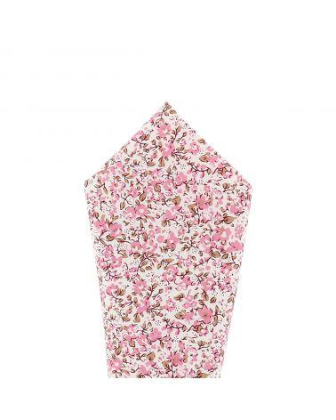 Pochette Costume Liberty Blanc et Vieux rose