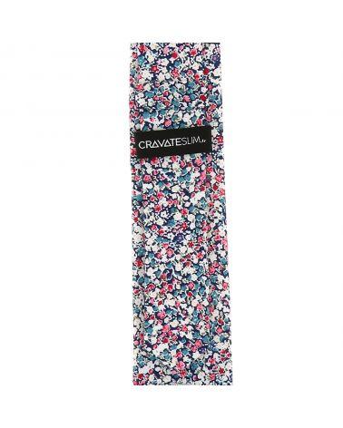 Cravate Liberty Bleu marine Rose et Blanc