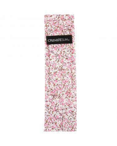 Cravate Liberty Blanc et Vieux rose