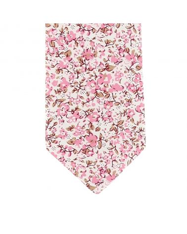 Cravate Garçon Liberty Blanc et Vieux rose