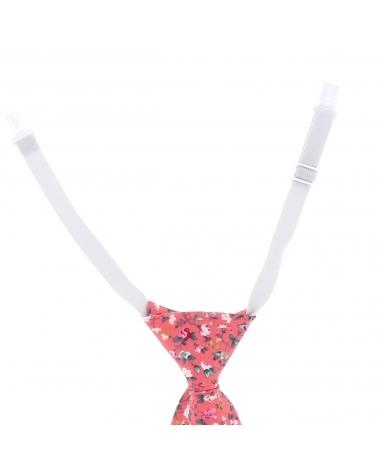 Cravate Garçon Corail à Fleurs