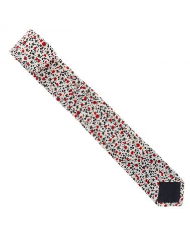 Cravate Liberty Blanche et Rouge