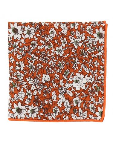 Pochette Costume Liberty Orange et Blanche