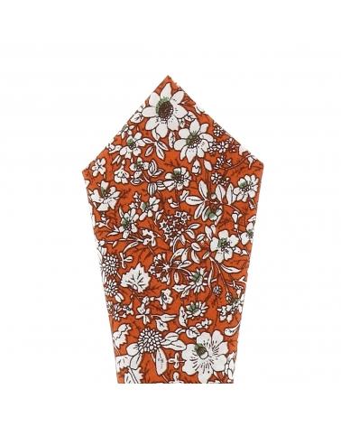 Pochette Costume Liberty Orange et Blanche