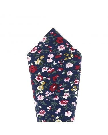 Pochette Costume Liberty Bleu marine, Rose et Bordeaux
