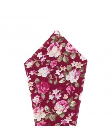 Pochette Costume Fleurs Fushia