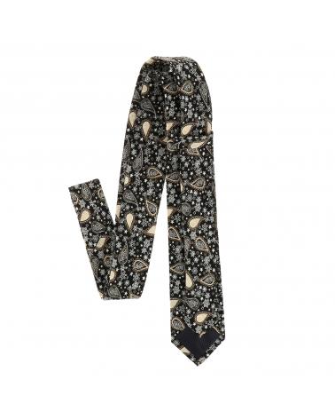 Cravate Paisley Noire