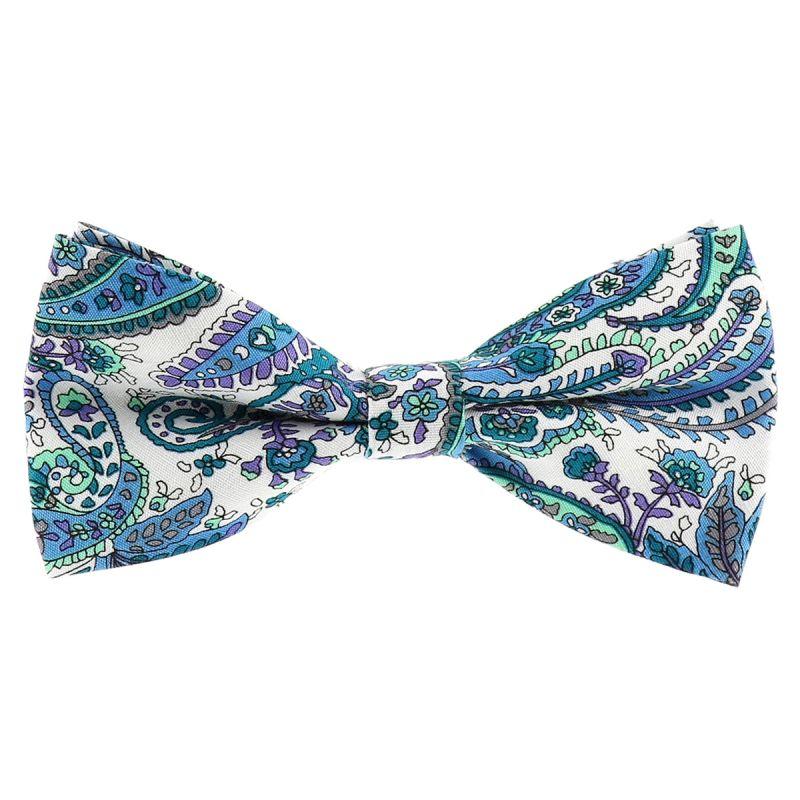 Noeud Papillon Paisley Bleu turquoise