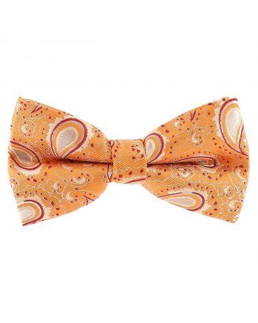 Noeud Papillon Paisley Jacquard Orange