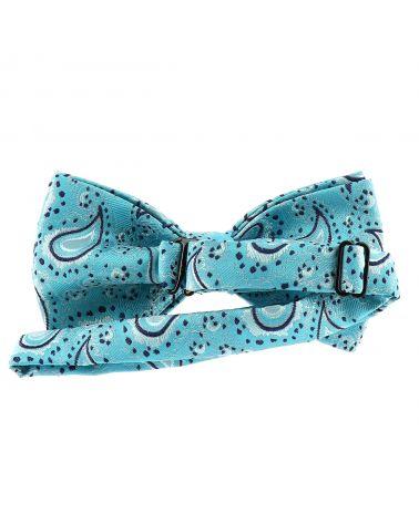 Noeud Papillon Paisley Jacquard Bleu turquoise