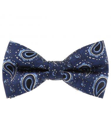Noeud Papillon Paisley Jacquard Bleu marine