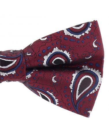 Noeud Papillon Paisley Jacquard Bordeaux