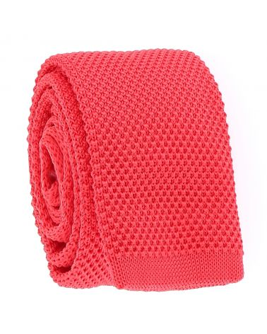 Cravate Tricot Corail