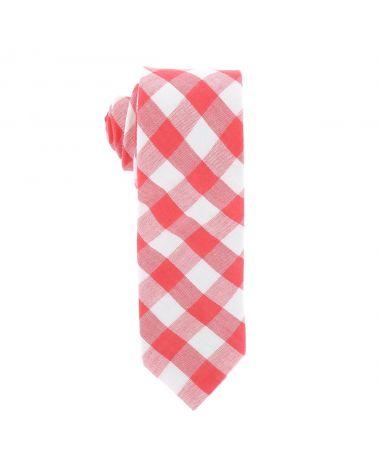 Cravate Coton Vichy Corail