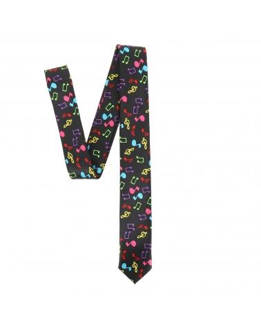 Cravate Notes de Musique Multicolores