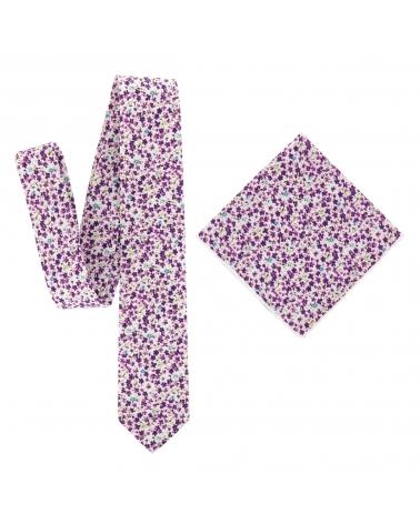 Cravate Liberty Violet