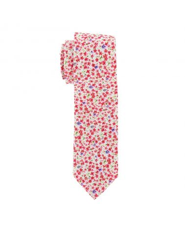 Cravate Liberty Rose Corail