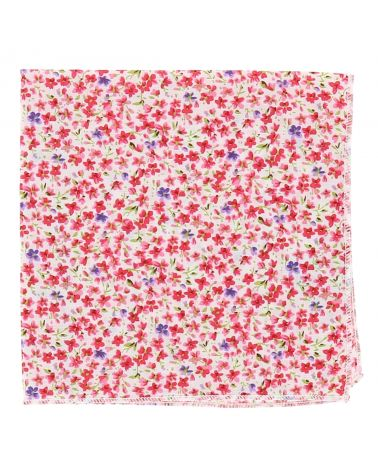 Pochette Costume Liberty Rose Corail