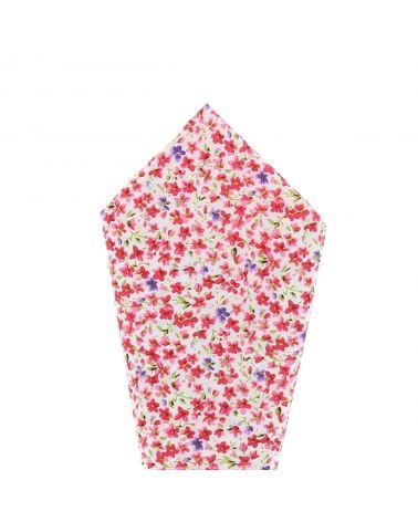 Pochette Costume Liberty Rose Corail