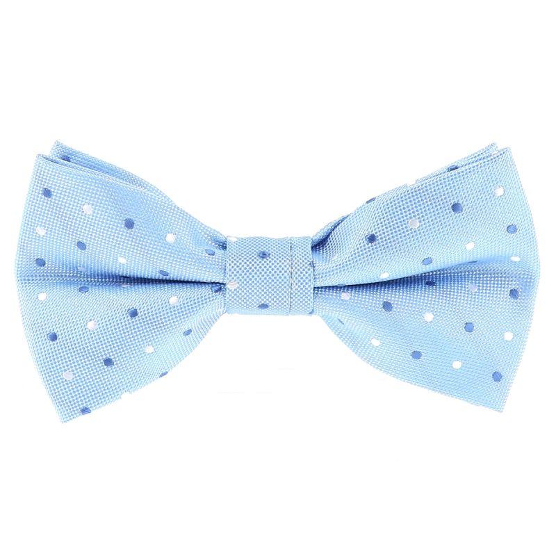 Noeud Papillon Bleu ciel à Pois
