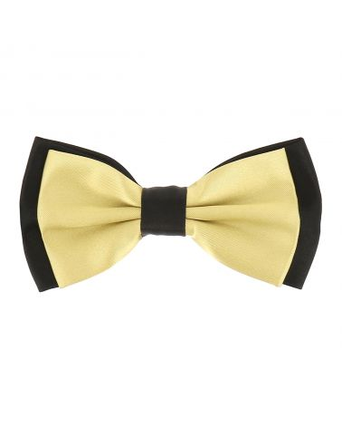 Noeud Papillon Double Jaune pale