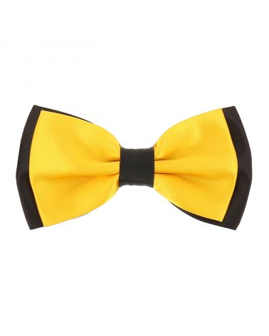 Noeud Papillon Double Jaune orange