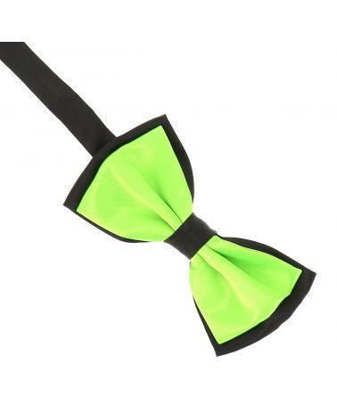 Noeud Papillon Double Vert fluo