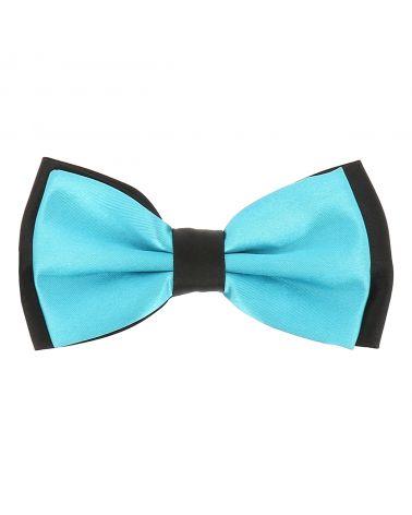 Noeud Papillon Double Bleu turquoise