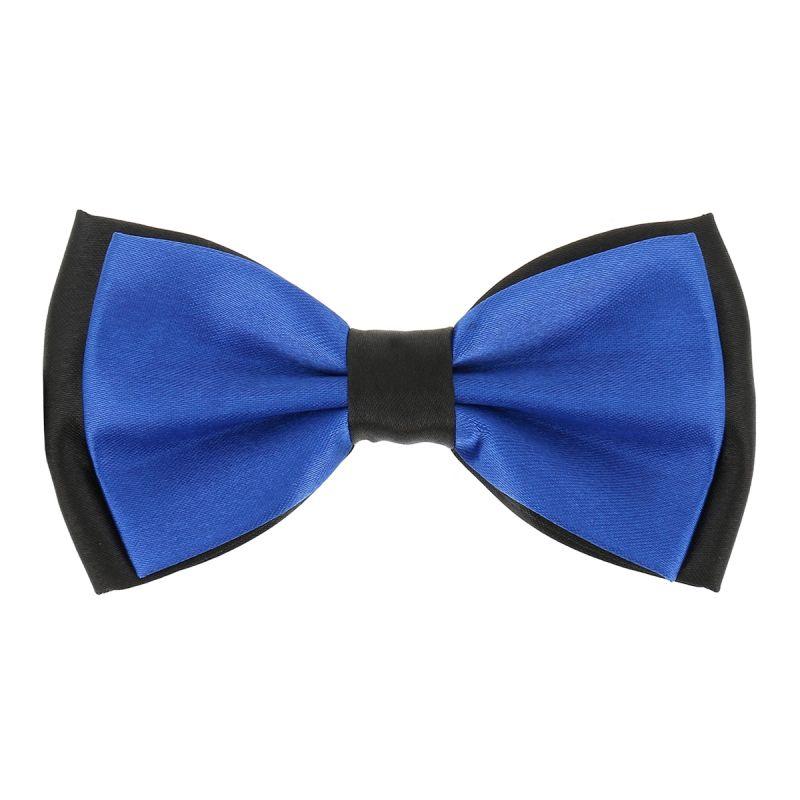 Noeud Papillon Double Bleu roi