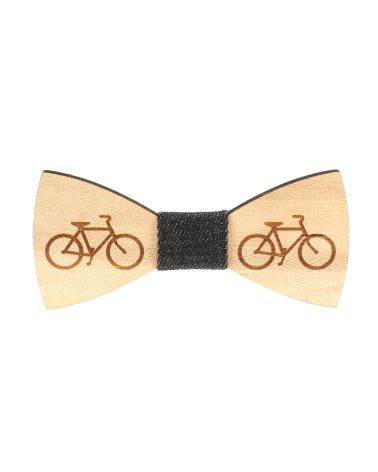 Noeud Papillon Bois Bicyclette