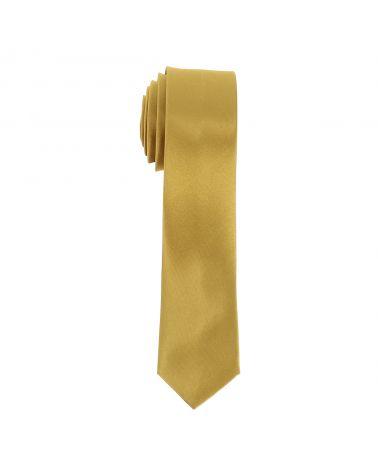 Cravate Slim Dorée