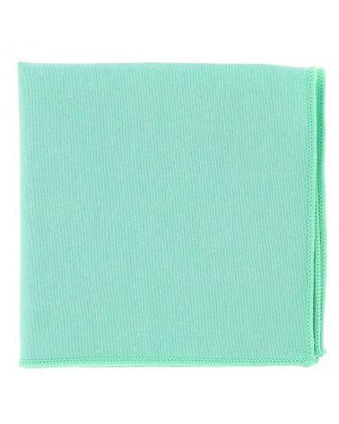 Pochette Costume Coton Vert d'eau