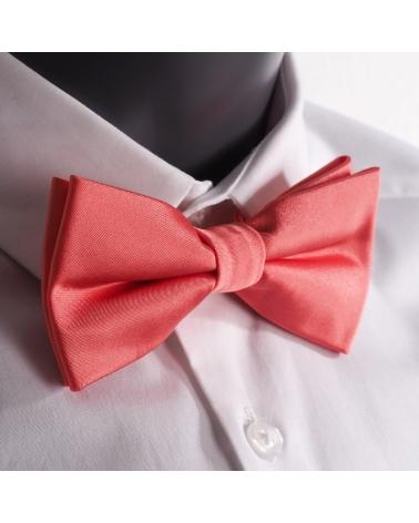 Coral solid Skinny Tie