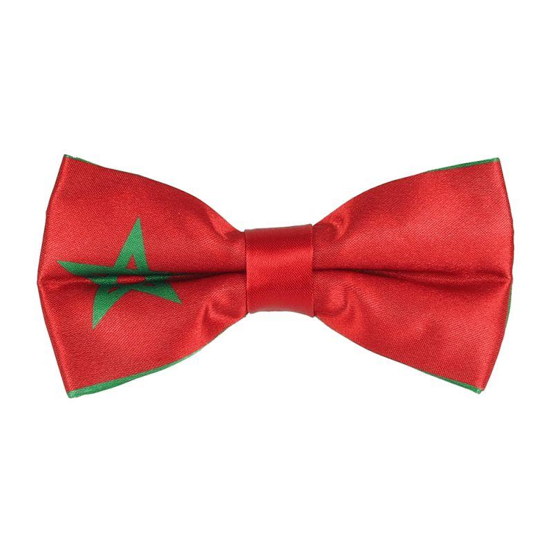 Noeud Papillon Drapeau Marocain - Drapeau Maroc