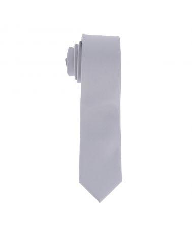 Cravate Slim Gris argent 6cm